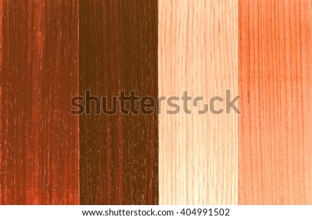 Vintage looking Wood plank board background with a selection of different veneers