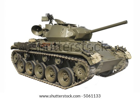 Vintage M24 Chaffee  Tank without markings - stock photo