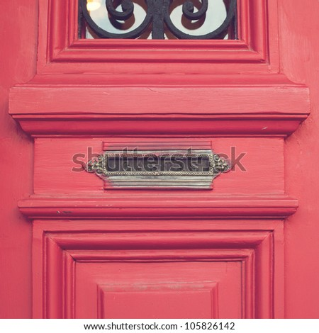 Vintage Mailbox - stock photo