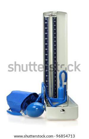 Vintage manometer - pressure gauge - stock photo