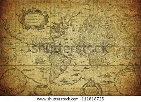 vintage map of the world 1635