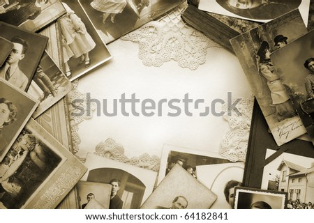 Vintage memories - stock photo