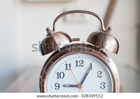 Vintage metal analog alarm clock