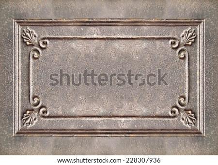 Vintage  metal frame background - stock photo