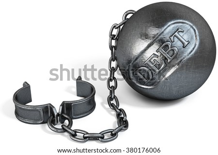 vintage metal shackles. isolated on white background. - stock photo