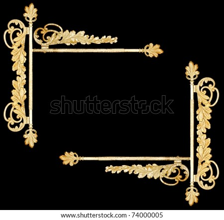 vintage metalwork as border, frame - stock photo