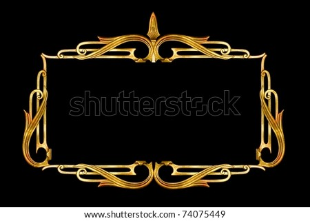 vintage metalwork as frame, border - stock photo