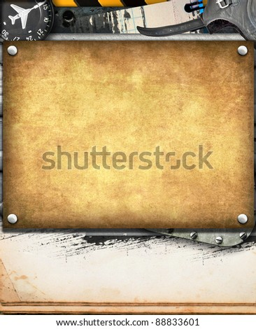 Vintage military background with space for text - stock photo