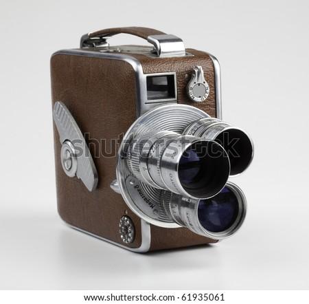 Vintage 8mm Movie Camera - stock photo