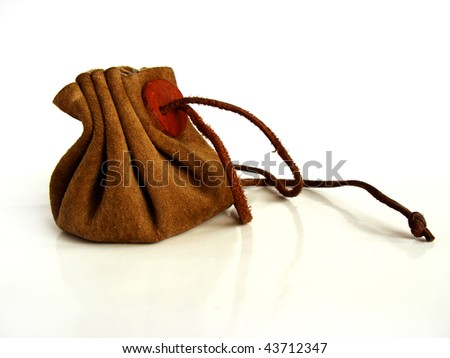 vintage money bag - stock photo