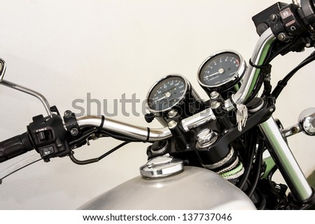 vintage Motorcycle detail - stock photo