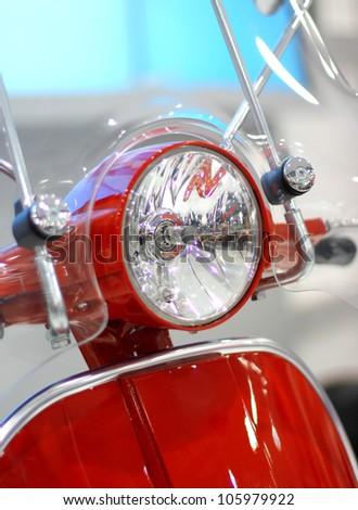 vintage motorcycle lamp - stock photo