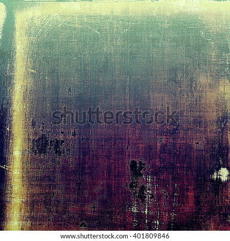 Vintage mottled frame, textured grunge background with different color patterns: yellow (beige); green; blue; purple (violet); pink