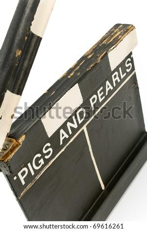 Vintage Movie Clapboard isolated on white - stock photo