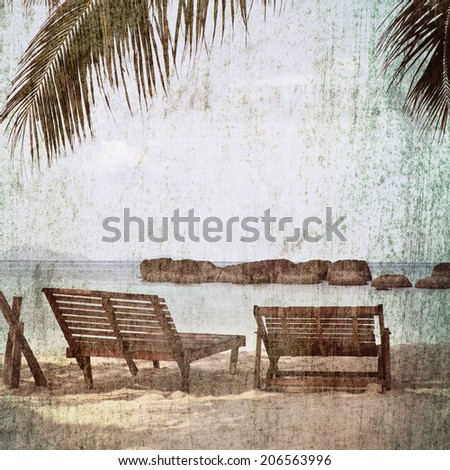Vintage nature picture style - stock photo