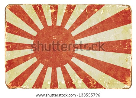 Vintage Naval flag of Japan. Background. - stock photo