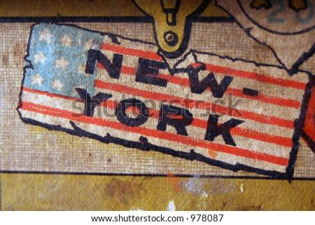 vintage new york logo - stock photo