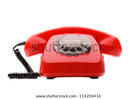 Vintage Of Red Telephone