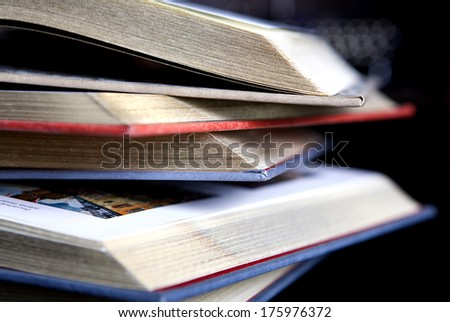 Vintage old books - stock photo