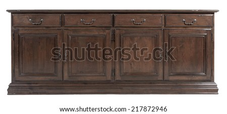 Vintage old classic wooden cabinet - stock photo