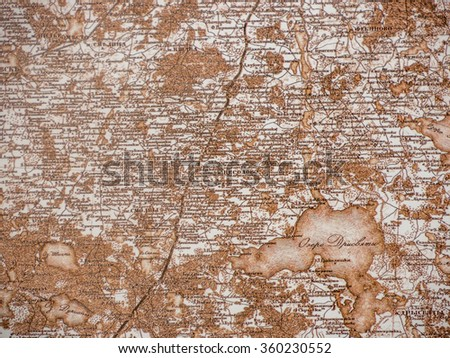 Vintage old map - Picture from books collection - stock photo