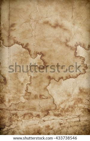 vintage old paper stained background - stock photo