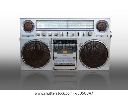 vintage old radio - stock photo