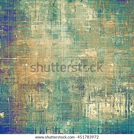 Vintage old retro background with ancient style design elements and different color patterns: yellow (beige); brown; green; blue; cyan; purple (violet) - stock photo