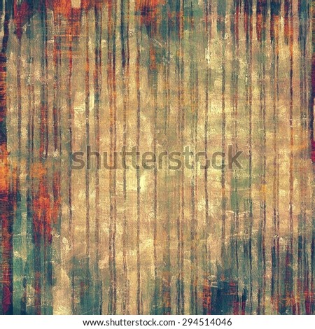 Vintage old texture for background. With different color patterns: yellow (beige); brown; green; red (orange) - stock photo