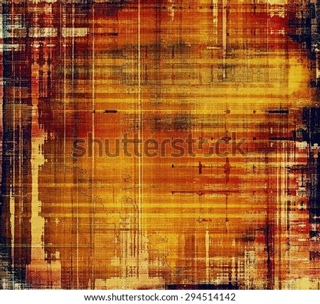 Vintage old texture for background. With different color patterns: yellow (beige); brown; red (orange); black - stock photo
