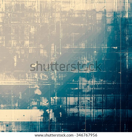 Vintage old texture for background. With different color patterns: yellow (beige); cyan; gray; blue - stock photo