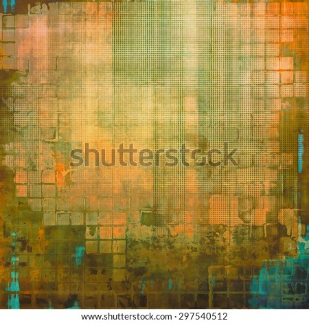 Vintage old texture for background. With different color patterns: yellow (beige); green; red (orange); blue - stock photo