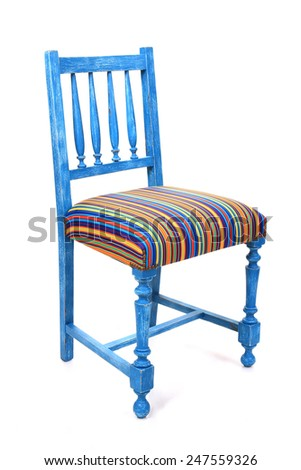 Vintage old wood chairs - stock photo