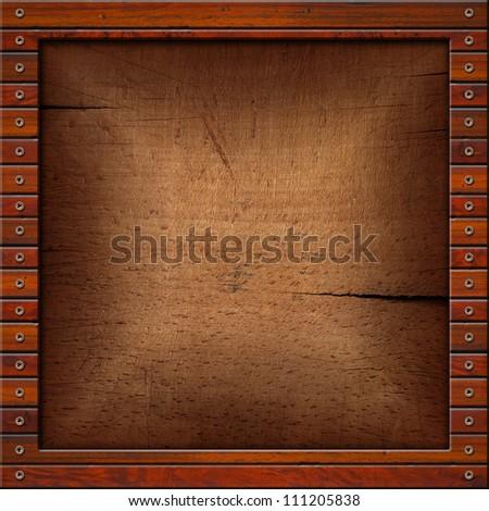 Vintage Old Wooden Frame Square Vintage Stock Illustration 111205838 ...
