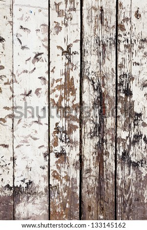 Vintage or grungy white background of natural wood or wooden old texture as a retro pattern wall. It is a concept, conceptual or metaphor wall banner, grunge, material, aged, rust or construction. - stock photo