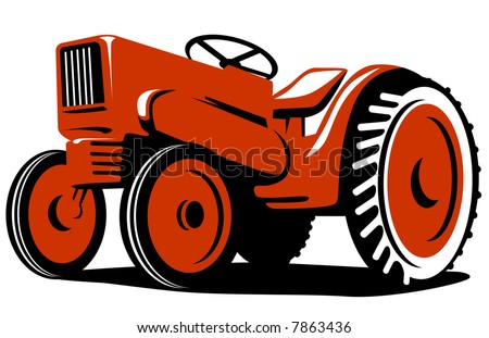 Vintage Orange Tractor Stock Photos, Images, & Pictures ...