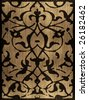 Vintage ornamental wood texture - stock photo