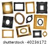 Vintage ornate frames - stock photo