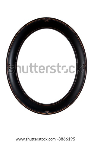 Vintage oval photo frame - isolated on white background