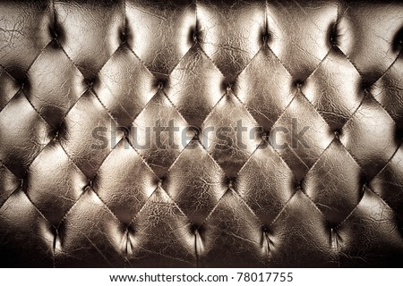 Vintage padding, Texture of vintage padding cushion. - stock photo