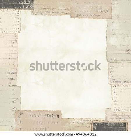 Vintage Paper Background With Border