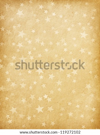 vintage paper decorated with  stars - stock photo