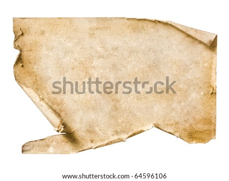 Vintage Paper on dark wood - stock photo