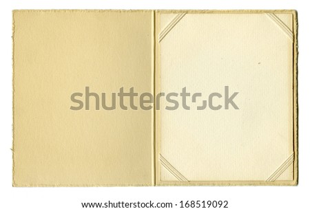 Vintage paper photograph frame - stock photo