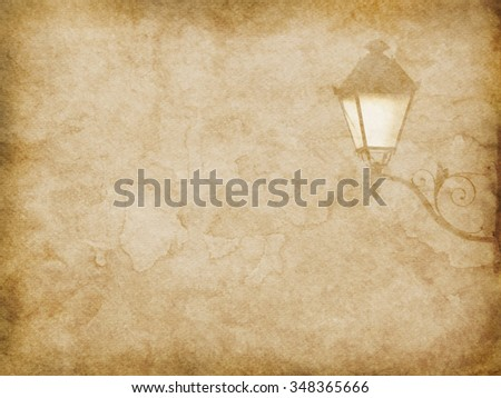 Vintage paper texture with streetlight pattern