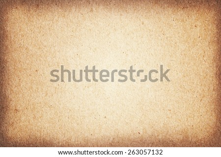 Vintage paper textures, grungy old brown cardboard for background. - stock photo
