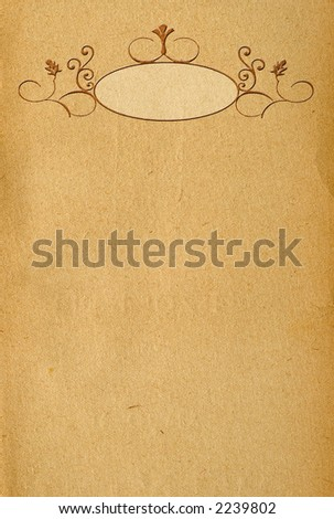 Vintage paper with banner decoration