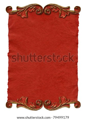 vintage paper with elegant decor elements - stock photo