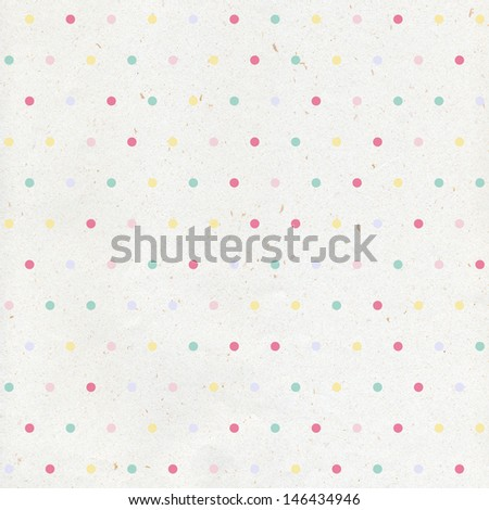 Vintage paper with fun polka dots. Abstract paper background  - stock photo