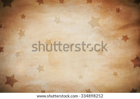 vintage paper with stars - stock photo